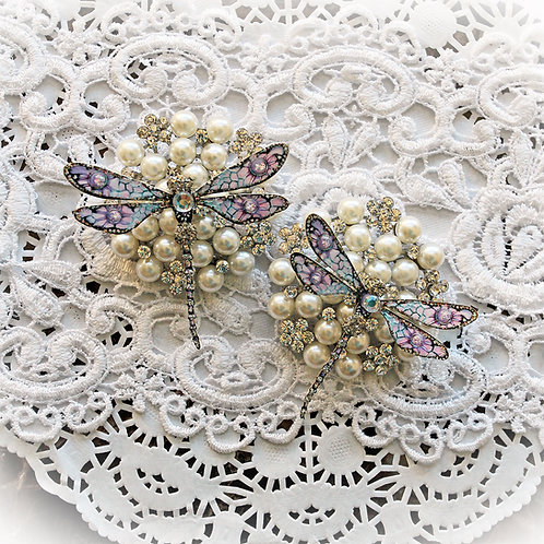To Mercury And Back Premium Paper Glitter Glass Dragonflies
