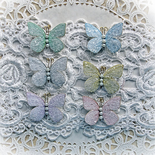 Tiny Treasures Sweet Pea Mixed Colors Premium Paper Glitter Glass