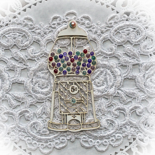 Beautiful Board Gumball Machine Laser Cut Chipboard