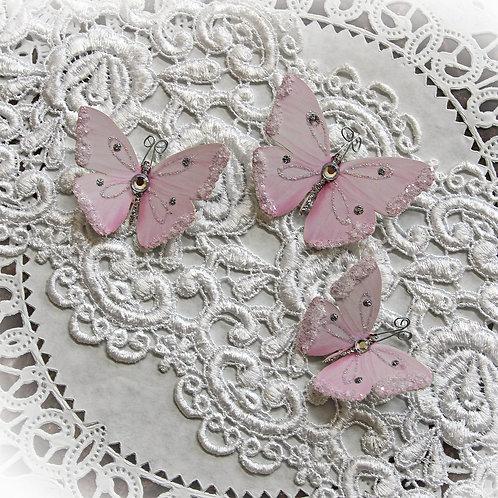 Sweet As Candy Premium Paper Glitter Glass Butterflies