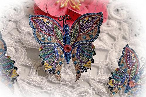 Mosaic Tile Premium Paper Butterfly Set