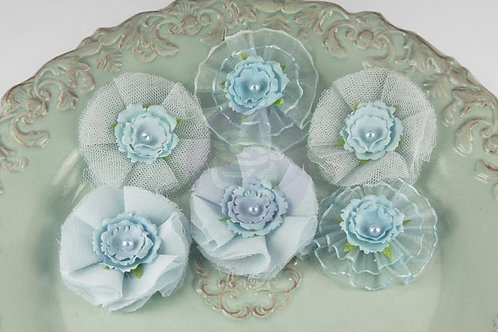 Prima Bronte Flowers~ Powder Blue