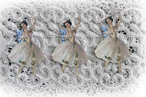 Vintage Fairy Ballerina Premium Paper Die Cuts