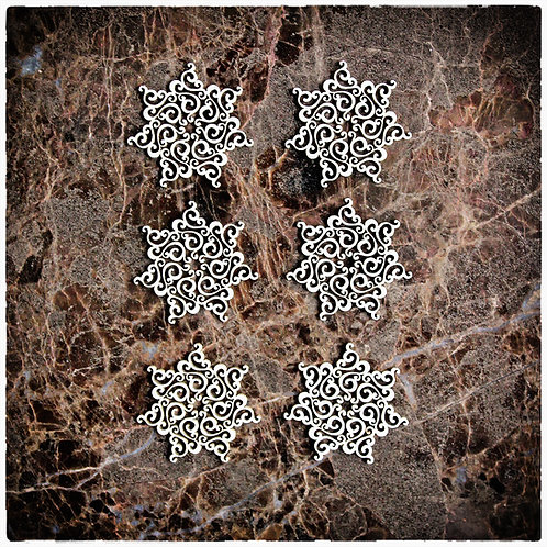 Beautiful Board Victorian Snowflake Medallions Set Chipboard