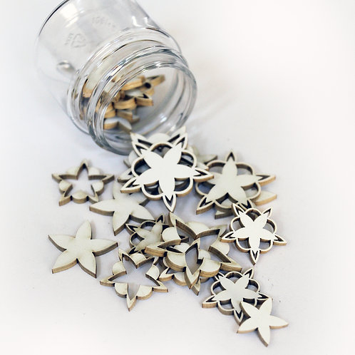 Beautiful Board Beautiful Bits - Starfish Zazzy Laser Cut Chipboard