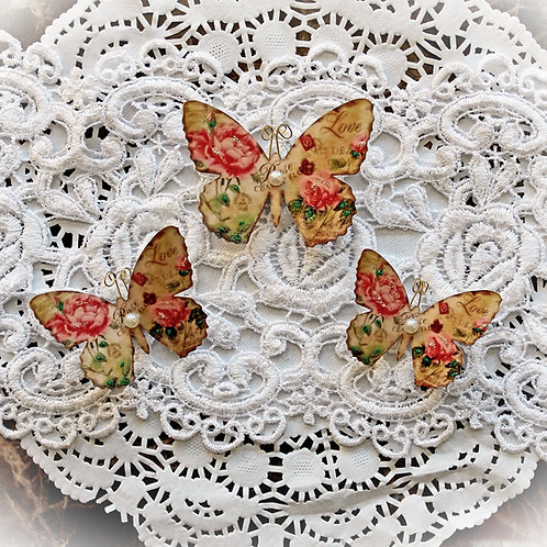 Secret Crush Premium Paper Butterflies