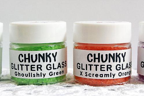 Reneabouquets Chunky Glitter Glass-Halloween Set