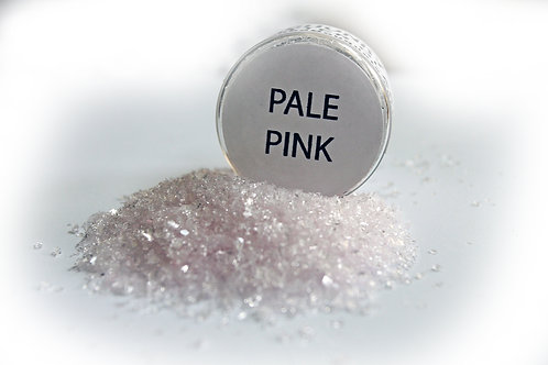 .5 Ounce Hand Tinted Pale Pink Gawdie Girl Chunky Glitter Glass