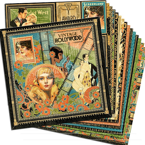 Graphic 45 Vintage Hollywood 12 x 12 Paper Pad Clearance