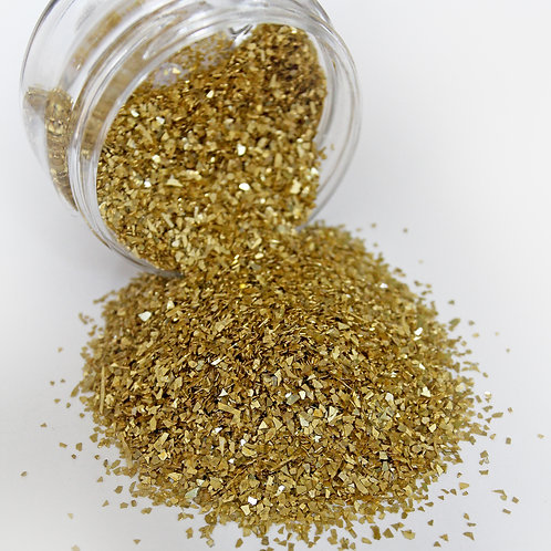 .5 Ounce Gold Chunky German Glitter Glass