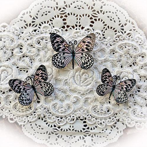 Reneabouquets Butterfly Set~Sweetheart Blossom Premium Paper Butterflies