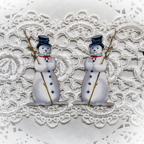 Printed Beautiful Board Small Snowman Chipboard