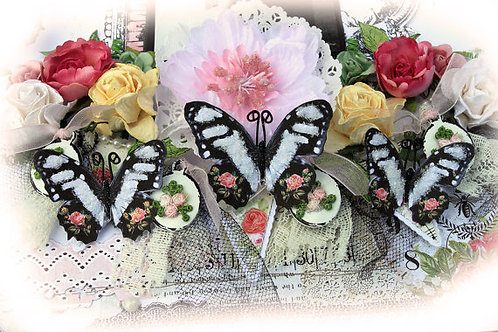 Love Story Glitter Glass Butterflies