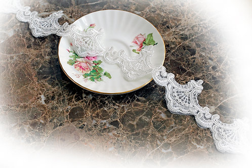 Princess Crown Lace~White 2 1/4 Inch Wide