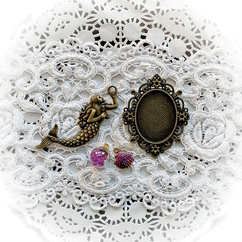 Reneabouquets Mermaid Trinkets Pack In Mystical Purple