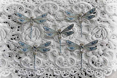 Tiny Treasures To The Moon And Back Premium Paper Glitter Glass Dragonflies