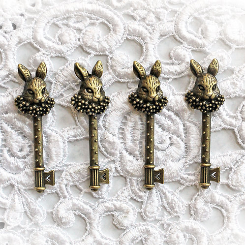 Reneabouquets White Rabbit Keys Trinkets Pack