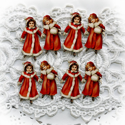 Beautiful Board Snow Bunny Sisters Itty Bitty Chipboard Set