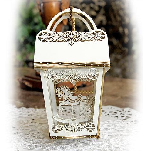 Beautiful Board Carousel Horse Explosion Ornament, Box, Gift Holder