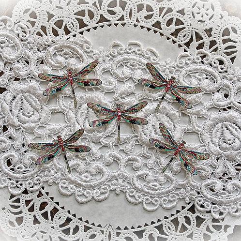 Tiny Treasures Mosaic Tile Premium Paper Dragonflies
