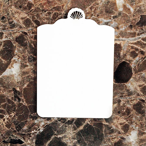 Beautiful Board Small Shell Tag Laser Cut Chipboard