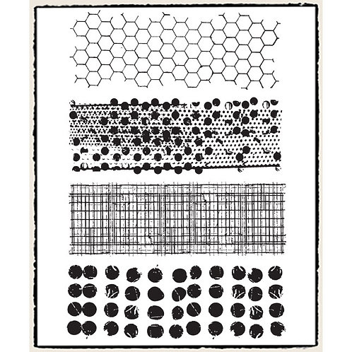 Sale~Tim Holtz Mixed Media Cling Rubber Stamp Set