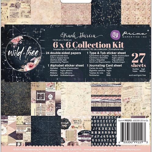 Prima Wild & Free  6 x 6 Collection Kit