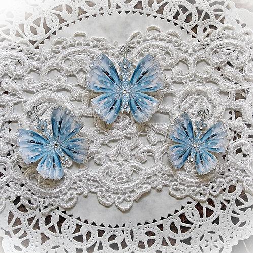 Frozen Premium Paper Glitter Glass Butterflies