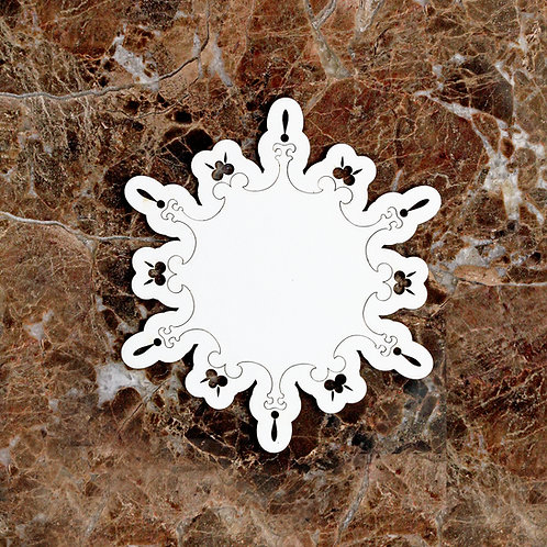 Beautiful Board Small Snowflake Stackable Base Laser Cut Chipboard