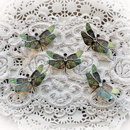 Tiny Treasures Dream Catcher Premium Paper Dragonflies Set
