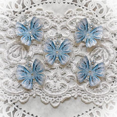 Tiny Treasures Frozen Premium Paper Glitter Glass Butterflies