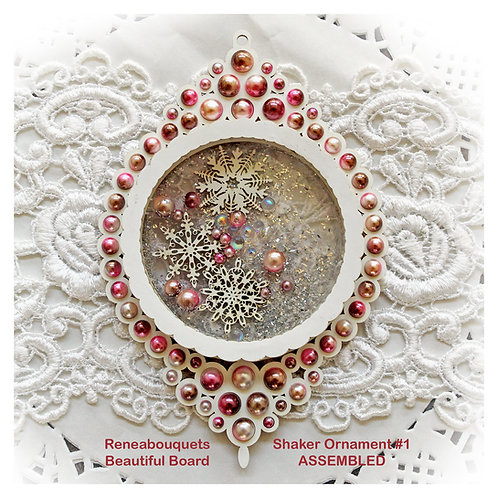 Beautiful Box Ornament #2 Shaker Box Chipboard DIY Kit