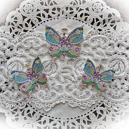 Mosaic Tea Cup Premium Paper Butterflies