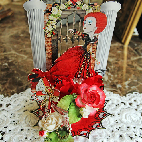 Wonderland  Red Queen 3D Tea Cup DIY Kit Premium