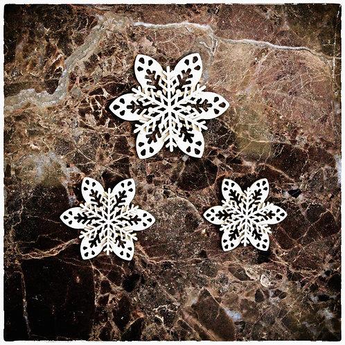Beautiful Board Winter Snowflakes 6 Piece Set Laser Cut Chipboard