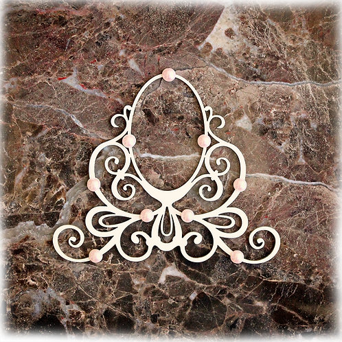 Beautiful Board Medium Candy Cameo Frame Laser Cut Chipboard