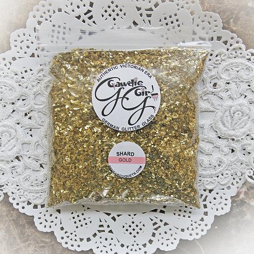 1 Pound Bag Gold Shard German Glitter Glass