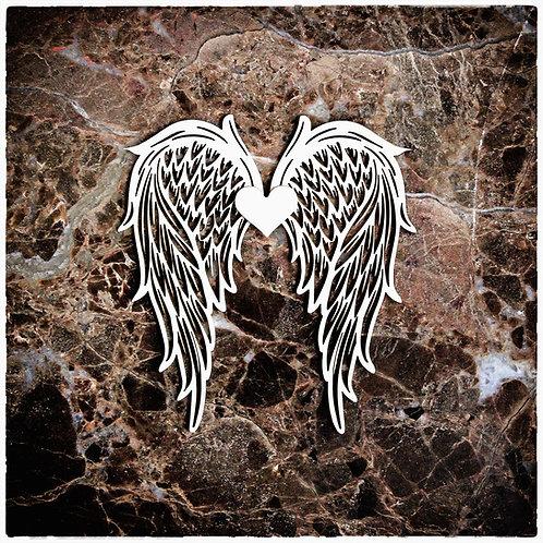 Beautiful Board Small Angel Wings Laser Cut Chipboard