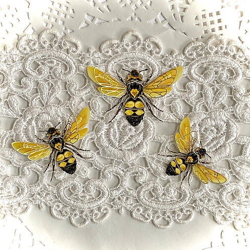 Lemon Blossom Bees Premium Paper Body &  Double Wing Layers