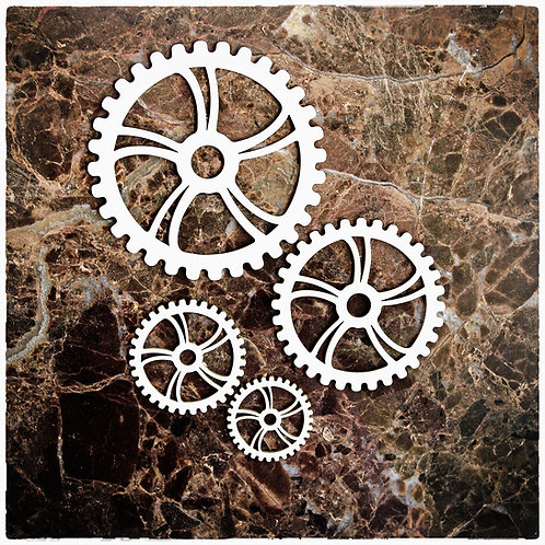Beautiful Board Clockwork Gears Set Of 4 Laser Cut Chipboard