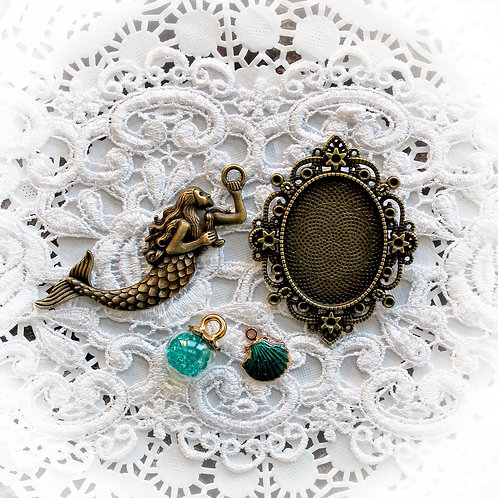 Reneabouquets Mermaid Trinkets Pack In Mermaid Teal