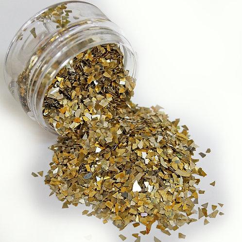 .5 Ounce Gold Super Shard German Glitter Glass