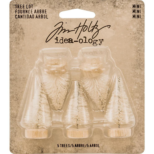 Tim Holtz Idea-ology Mini Woodland Tree Set Of 5