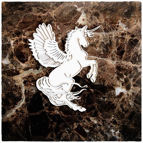Beautiful Board Large Pegacorn Laser Cut Chipboard Unicorn / Pegasus