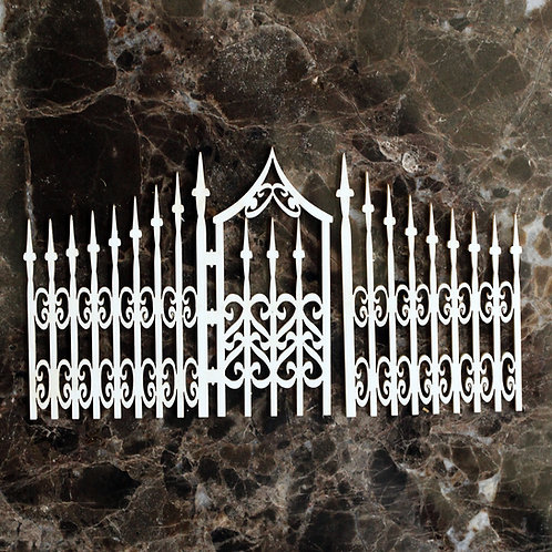 Beautiful Board Small Gothic Gate Laser Cut Chipboard