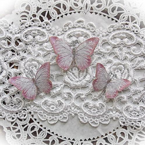Fairy Dust Premium Paper Glitter Glass Butterflies