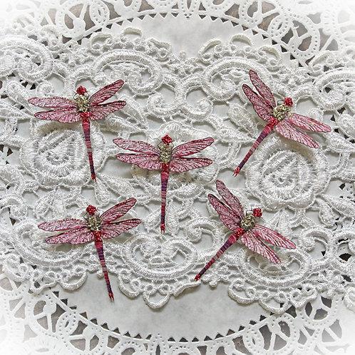 Tiny Treasures Suncatcher Pink Premium Paper Glitter Glass Drago