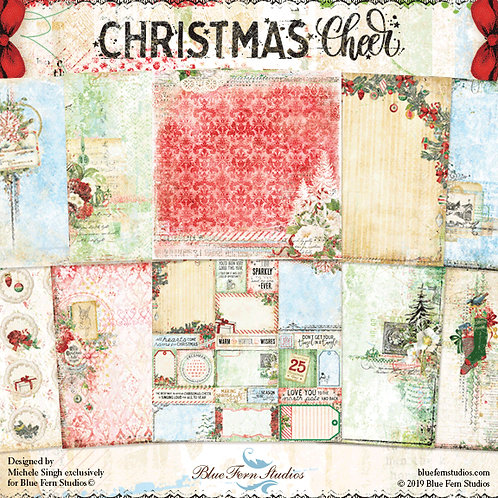 Blue Fern Studios Christmas Cheer Collection 20 Papers