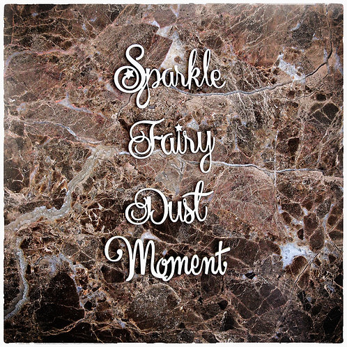 Beautiful Words Large Sparkle, Fairy, Dust, Moment Chipboard