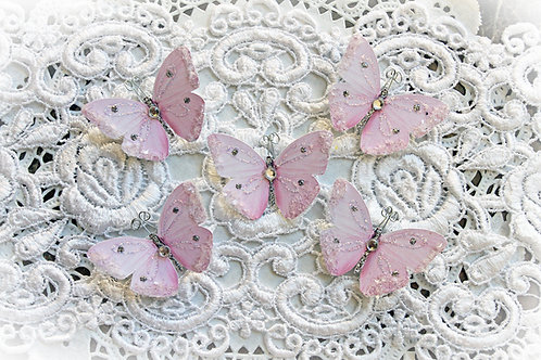 Tiny Treasures Sweet As Candy Premium Paper Glitter Glass Butterflies